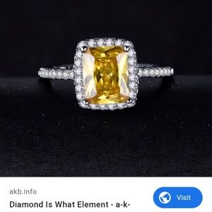 Sterling silver Princess cut Amethyst Ring
